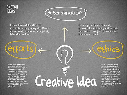 Creative Idea Sketch, Slide 9, 02007, Business Models — PoweredTemplate.com