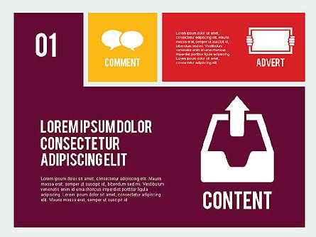 Online Marketing Presentation in Flat Design, Slide 2, 02008, Presentation Templates — PoweredTemplate.com