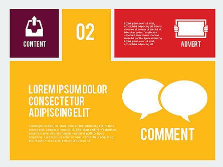 Online Marketing Presentation in Flat Design, Slide 3, 02008, Presentation Templates — PoweredTemplate.com