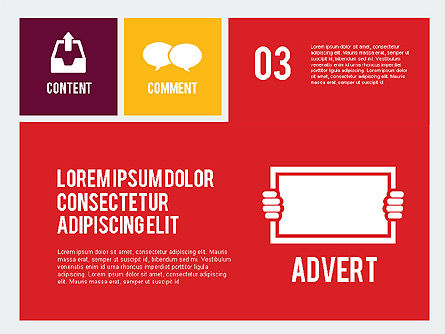 Online Marketing Presentation in Flat Design, Slide 4, 02008, Presentation Templates — PoweredTemplate.com