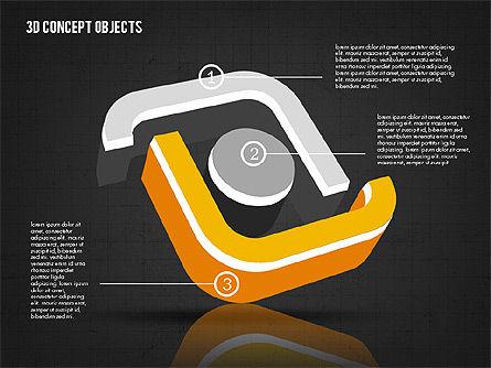 3D Concept Objects, Slide 10, 02018, Shapes — PoweredTemplate.com