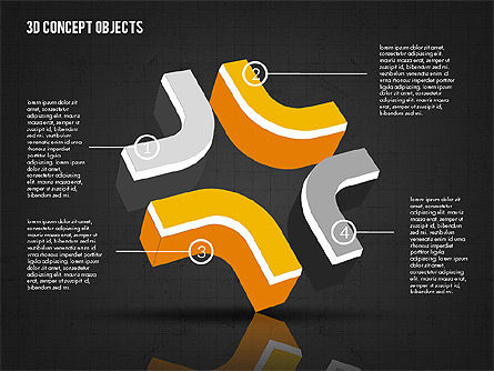 3D Concept Objects, Slide 11, 02018, Shapes — PoweredTemplate.com