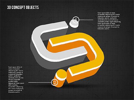 3D Concept Objects, Slide 12, 02018, Shapes — PoweredTemplate.com