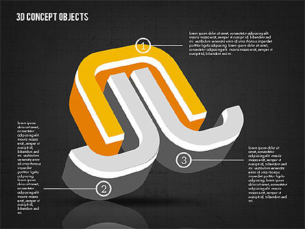 3D Concept Objects, Slide 13, 02018, Shapes — PoweredTemplate.com