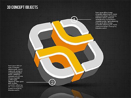 3D Concept Objects, Slide 14, 02018, Shapes — PoweredTemplate.com