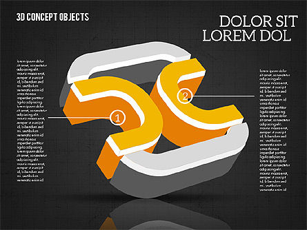 3D Concept Objects, Slide 15, 02018, Shapes — PoweredTemplate.com