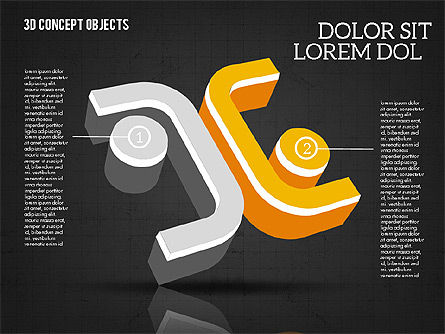 3D Concept Objects, Slide 16, 02018, Shapes — PoweredTemplate.com
