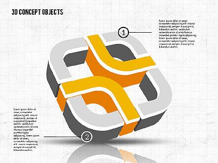 3D Concept Objects, Slide 6, 02018, Shapes — PoweredTemplate.com