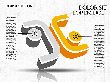 3D Concept Objects, Slide 8, 02018, Shapes — PoweredTemplate.com