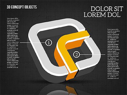 3D Concept Objects, Slide 9, 02018, Shapes — PoweredTemplate.com