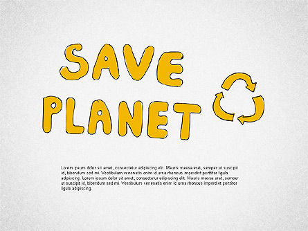 Save the Planet Shapes, 02019, Shapes — PoweredTemplate.com