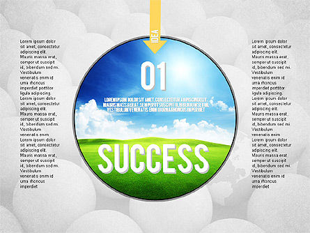 Steps to Success Concept, 02021, Stage Diagrams — PoweredTemplate.com