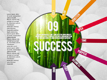 Steps to Success Concept, Slide 9, 02021, Stage Diagrams — PoweredTemplate.com