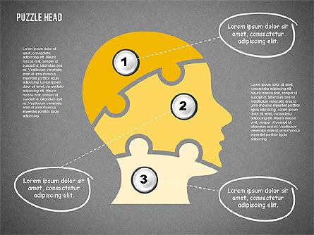 Puzzle Head, Slide 11, 02023, Puzzle Diagrams — PoweredTemplate.com