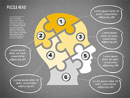 Puzzle Head, Slide 12, 02023, Puzzle Diagrams — PoweredTemplate.com