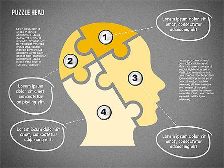 Puzzle Head, Slide 14, 02023, Puzzle Diagrams — PoweredTemplate.com