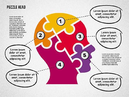 Puzzle Head, Slide 5, 02023, Puzzle Diagrams — PoweredTemplate.com