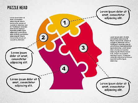 Puzzle Head, Slide 6, 02023, Puzzle Diagrams — PoweredTemplate.com