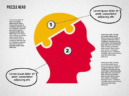 Puzzle Head, Slide 8, 02023, Puzzle Diagrams — PoweredTemplate.com