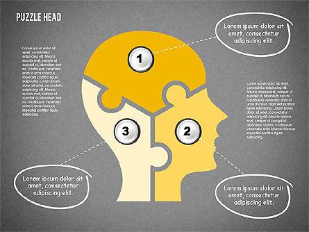 Puzzle Head, Slide 9, 02023, Puzzle Diagrams — PoweredTemplate.com
