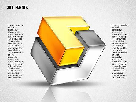 Shapes: 3d cubes puzzle formas #02024