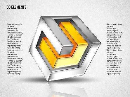 3D Cubes Puzzle Shapes, Slide 4, 02024, Shapes — PoweredTemplate.com