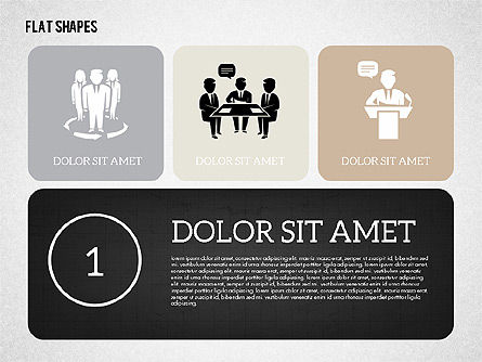 Presentation Templates: Presentation with Flat Shapes #02027