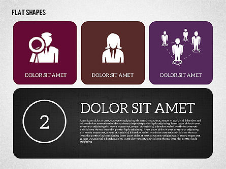 Presentation with Flat Shapes, Slide 2, 02027, Presentation Templates — PoweredTemplate.com