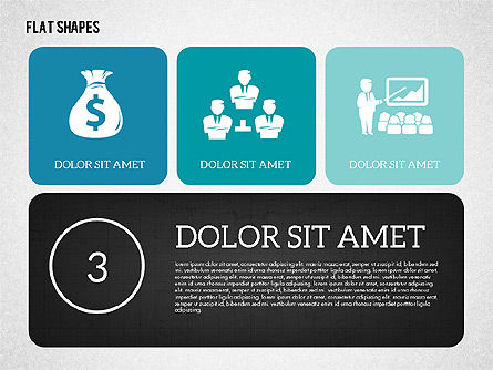 Presentation with Flat Shapes, Slide 3, 02027, Presentation Templates — PoweredTemplate.com