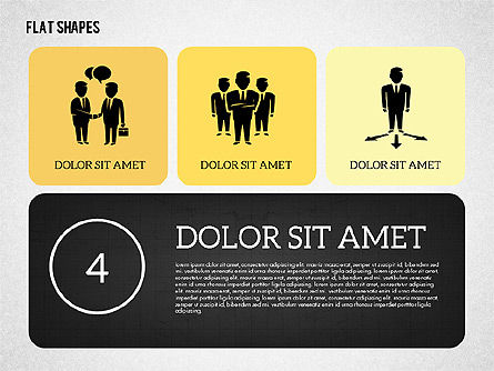 Presentation with Flat Shapes, Slide 4, 02027, Presentation Templates — PoweredTemplate.com