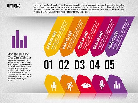 Tilted Agenda Options, Slide 5, 02029, Stage Diagrams — PoweredTemplate.com