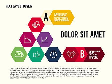 Presentation with Hexagon Flat Shapes, Slide 2, 02030, Business Models — PoweredTemplate.com