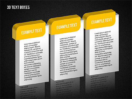 3D Text Boxes Collection, Slide 11, 02033, Text Boxes — PoweredTemplate.com