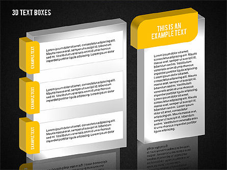 3D Text Boxes Collection, Slide 13, 02033, Text Boxes — PoweredTemplate.com