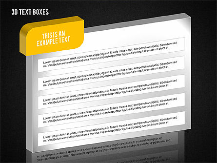 3D Text Boxes Collection, Slide 14, 02033, Text Boxes — PoweredTemplate.com