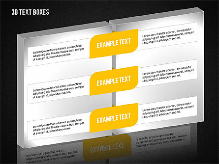 3D Text Boxes Collection, Slide 16, 02033, Text Boxes — PoweredTemplate.com