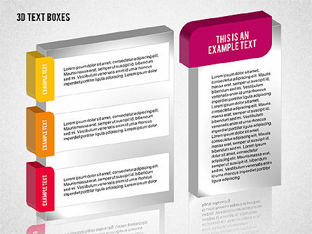 3D Text Boxes Collection, Slide 5, 02033, Text Boxes — PoweredTemplate.com