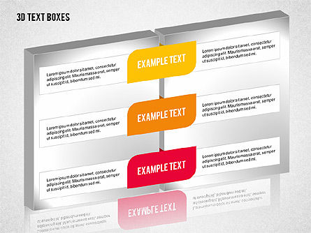 3D Text Boxes Collection, Slide 8, 02033, Text Boxes — PoweredTemplate.com