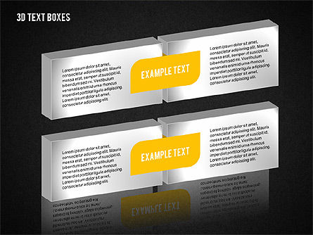 3D Text Boxes Collection, Slide 9, 02033, Text Boxes — PoweredTemplate.com