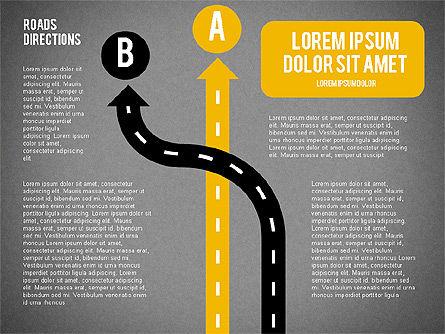 Road Forks Shapes, Slide 13, 02034, Shapes — PoweredTemplate.com