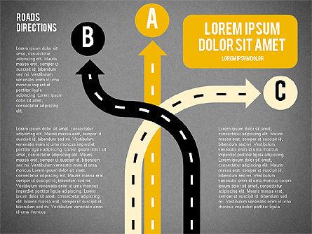 Road Forks Shapes, Slide 14, 02034, Shapes — PoweredTemplate.com