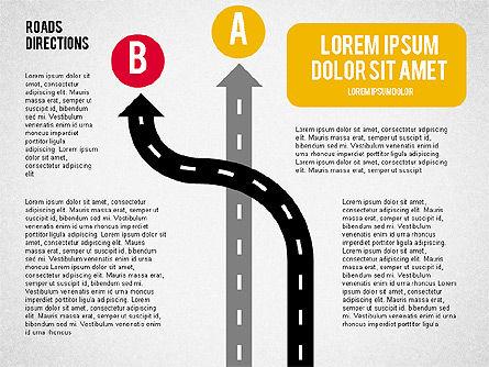 Road Forks Shapes, Slide 5, 02034, Shapes — PoweredTemplate.com