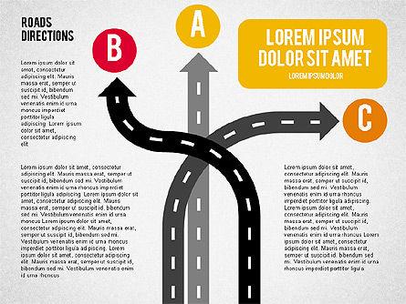 Road Forks Shapes, Slide 6, 02034, Shapes — PoweredTemplate.com