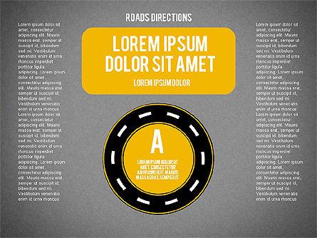 Road Forks Shapes, Slide 9, 02034, Shapes — PoweredTemplate.com