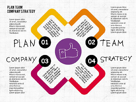 Business Models: Plan team bedrijfsstrategie diagram #02035