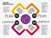 Business Models: Plan Team Company Strategy Diagram #02035