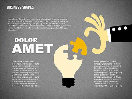 Cartoon Style Shapes, Slide 12, 02036, Shapes — PoweredTemplate.com