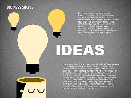Cartoon Style Shapes, Slide 16, 02036, Shapes — PoweredTemplate.com