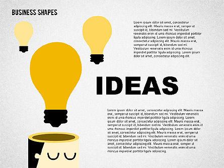 Cartoon Style Shapes, Slide 8, 02036, Shapes — PoweredTemplate.com
