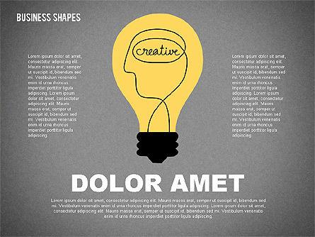 Cartoon Style Shapes, Slide 9, 02036, Shapes — PoweredTemplate.com